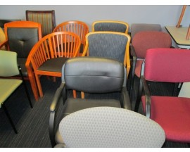 Used Stationary, Side, Guest, Waiting Room Chairs
