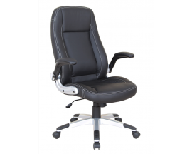X-Sel Model #176 Collins Executive Flip Arm High Back Chair