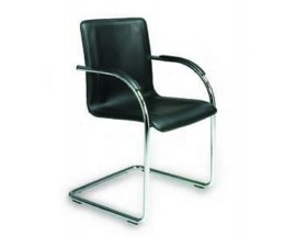 Boss Guest Chair  Black Vinyl