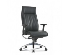 Alto High Back Black Executive Leather Chair - IN STORE PRICE $335