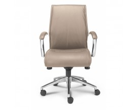 Alto Mid Back Executive Sand Leather* Chair - In Store Price $305