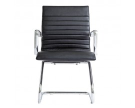 Zetti Guest Black/ White/ Gray/ Sand Leather Chair -  $ 220 IN STORE PRICE