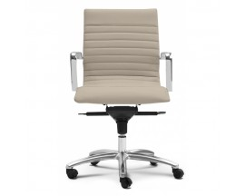 Zetti Mid Back White/Black/Gray/Sand Leather Chair - IN STORE PRICE $250