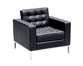 Piazza Leather* Lounge Chair - Black $475 IN STORE PRICE