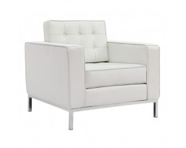Piazza Leather* Lounge Chair - White $475 IN STORE PRICE