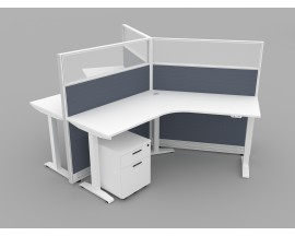 NEW Tripod Cubicle with Electric Adjustable Height Desk