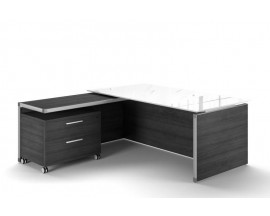Executive Glass Top Executive Desk