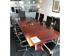 10' EXECUTIVE PREOWNED CONFERENCE TABLE / BOARDROOM TABLE