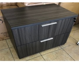 NEW IN THE BOX MODERN GREY LAMINATE 2 DRAWER LATERAL FILE