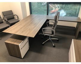 PREOWNED LaCasse L Shape and U shape Executive Desk