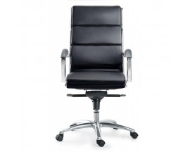 Livello High Back Executive Black/ White/ Grey/ Sand Leather Chair - $285 IN STORE PRICE