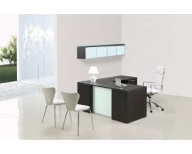 L-Shaped Desk with Glass or Laminate  modesty