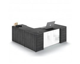 "L Shaped 66x72"" desk with 3 drawer Pedestal"
