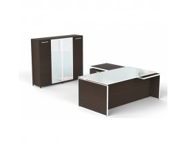Potenza Executive desk + Deluxe Wall Unit Combo