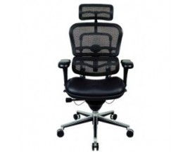 Ergohuman Chair LEM4ERG - High Back with Headrest and Leather and Mesh