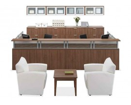 Office Sources Borders II Series Reception Desk - PLB#04
