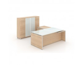 Potenza Executive desk with Deluxe wall unit