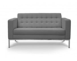 Piazza  Leather* Love Seat - Gray $675 IN STORE PRICE