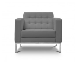 Piazza  Leather* Lounge Chair - Gray $475 IN STORE PRICE