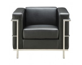 Madison Collection Club Chair with Chrome Exposed Frame - In Store Price $525
