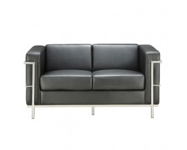 Madison Collection Loveseat with Chrome Exposed Frame - In Store Price $775