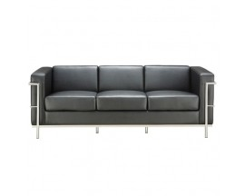 Madison Collection Sofa with Chrome Exposed Frame - In Store Price $1015