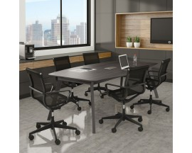 "94"" Boat Shape Conference Table with Grommet Sienna Collection"