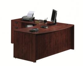 Bowfront Corner Extension L Shape Desk - Suite PL109