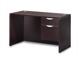 "48"" x 24: Simple Desk with Hanging Box File Suite PL117"