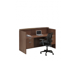 "72"" Straight Reception Desk W/ Laminate Transaction Top and 2 Hanging Box File Pedestals Suite PL125"