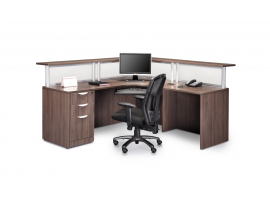 L Shaped Reception Desk w/ Transaction Counter  Suite PLB302