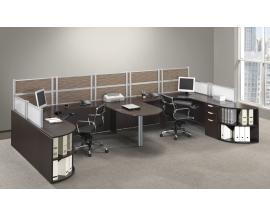 Bullet Desk Dual Workstation Suite PLB304