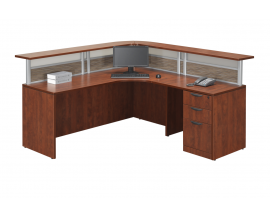 L Shaped Reception Desk Suite PLB306