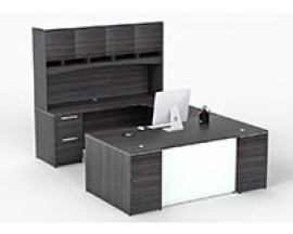 Pontenza Grigio Gray Laminate Desk